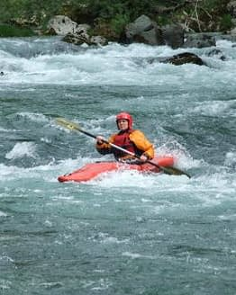 River kayak descent near Lake Bled Slovenia adventure activities